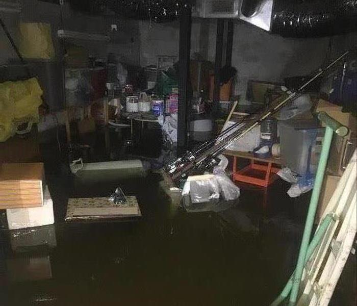 Flooded Basement in Chattanooga, TN Before