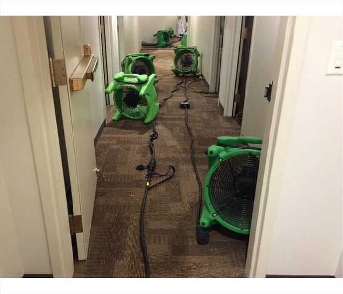Ooltewah Water Damage in a Corridor