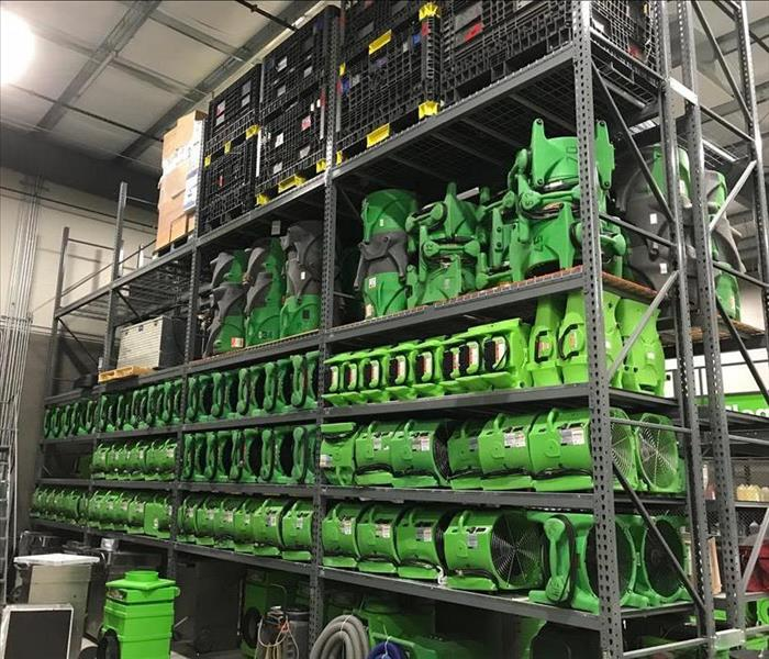 Green Stacks of Air Movers